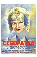 Cleopatra Claudette Colbert Framed Print
