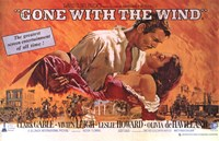 """Gone with the Wind  Horizontal Close Up - 17"""" x 11"""""""