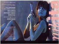 "La Femme Nikita - Woman sitting against a wall - 17"" x 11"""