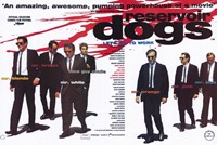 Reservoir Dogs Cast with Blood Splatter Wall Poster