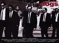 """Reservoir Dogs Black and White - 17"""" x 11"""""""