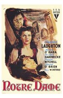"""Hunchback of Notre Dame Laughton And O'Hara - 11"""" x 17"""""""