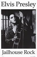 "Jailhouse Rock Black & White Elvis - 11"" x 17"""