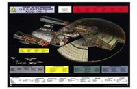 Star Trek: The Next Generation - NCC-1701-D cutaway Framed Print