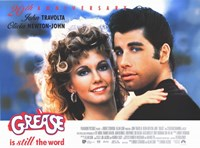 Grease Travolta & Newton-John Fine Art Print