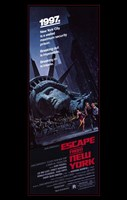"Escape from New York Tall 1997 - 11"" x 17"""