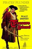 "Treasure Island movie poster - 11"" x 17"""