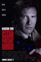 Clear and Present Danger Wall Poster