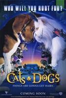 "Cats Dogs - 11"" x 17"", FulcrumGallery.com brand"