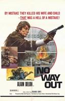 "No Way Out Alain Delon - 11"" x 17"""