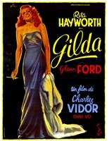 Gilda Rita Hayworth French Framed Print