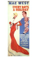 """Every Day's a Holiday Mae West And Edward Lowe - 11"""" x 17"""", FulcrumGallery.com brand"""