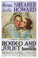 Romeo and Juliet John Barrymore Wall Poster