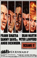 Oceans 11 Cast Wall Poster