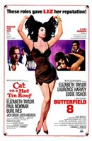 Cat on a Hot Tin Roof Elizabeth Taylor Wall Poster