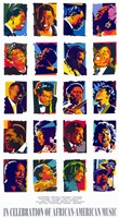 """in Celebration of African-American Music - 11"""" x 17"""", FulcrumGallery.com brand"""