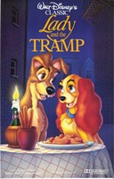 Lady and the Tramp Disney Classic Framed Print