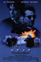 Heat Al Pacino & Robert De Niro Fine Art Print