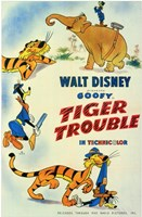 """Tiger Trouble - 11"""" x 17"""""""