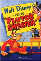 Pluto's Sweater Wall Poster
