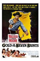 """Gold of the 7 Saints - 11"""" x 17"""", FulcrumGallery.com brand"""