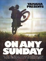 """on Any Sunday - Bike rider in a field - 11"""" x 17"""""""