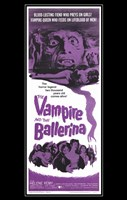 The Vampire and the Ballerina (black background) Wall Poster