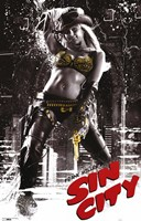 Sin City Gold Cowgirl Wall Poster