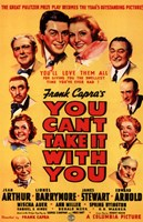 """You Can't Take it with You By Frank Capra - 11"""" x 17"""""""