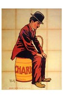 Charlie Chaplin - sitting Wall Poster