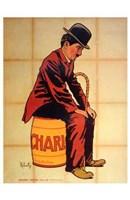 "Charlie Chaplin - sitting - 11"" x 17"""