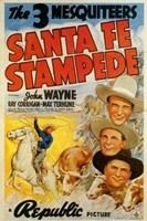 "Santa Fe Stampede - 11"" x 17"""