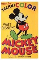 Walt Disney's Mickey Mouse Poster Fine Art Print