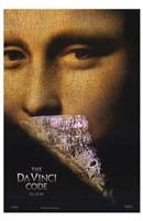 """The Da Vinci Code Mona Lisa Tall - 11"""" x 17"""""""