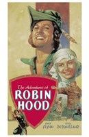 "The Adventures of Robin Hood Cast - 11"" x 17"""