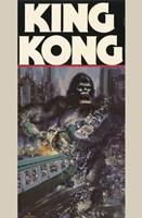 King Kong Crushing Train II Framed Print