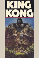 King Kong Crushing Train I Wall Poster