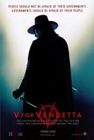 V for Vendetta Silhouette Wall Poster
