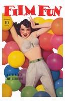 "Film Fun Balloons Pin Up Girl - 11"" x 17"""