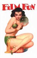 """Film Fun Gypsy Pin Up Girl - 11"""" x 17"""""""