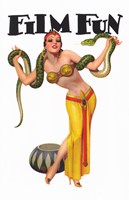 "Film Fun Snake Charmer Pin Up Girl - 11"" x 17"""