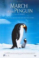"""March of the Penguins Blue - 11"""" x 17"""""""