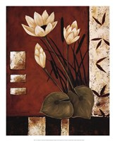 """Lotus Silhouette I by Krista Sewell - 18"""" x 22"""""""