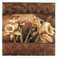 "Golden Daffodils I by Linda Thompson - 20"" x 20"""
