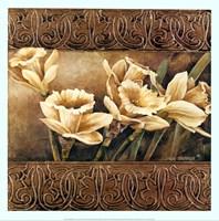 "Golden Daffodils II by Linda Thompson - 20"" x 20"""