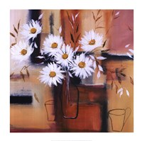 "Daisy Impressions II by Natasha Barnes - 28"" x 28"""