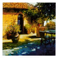 Courtyard Retreat Fine Art Print