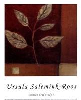 Crimson Leaf Study I Fine Art Print