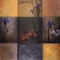 Iris Nine Patch Framed Print