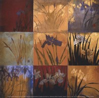"Iris Nine Patch II by Don Li-Leger - 5"" x 5"""